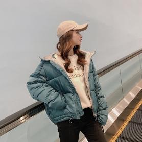 8809短款棉服女加厚2019新款韩版冬装时尚宽松学生闺蜜外套棉衣潮