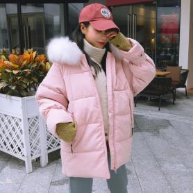 实拍韩国东大门19新款羽绒服 宽松超火ins面包服大码胖mm外套chic
