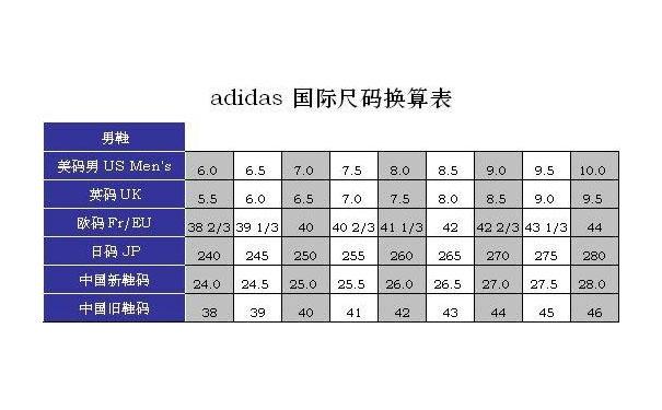 260的鞋子是多少码的,中国标准鞋码对照表